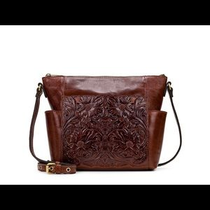 Patricia Nash LeatherAveley ToteBritish Tan Tooled
